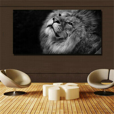 Large art prints Home Decor Canvas Painting Wall Art Black and white tiger