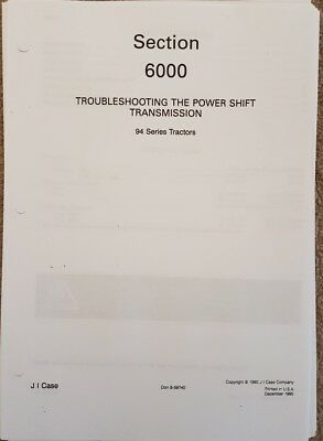 David Brown Case 94 Series Tractor Powershift Transmission Troubleshooting