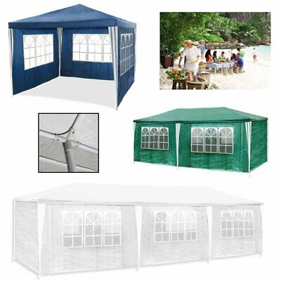 Waterproof Gazebo Marquee Garden Tent Canopy With Side Walls UV Protection