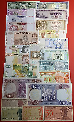 Lot of 23 Bank Notes Paper Money all Different UNC!!