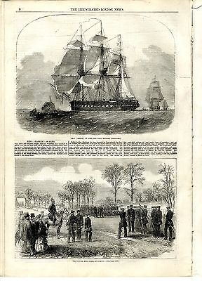 1855 ILLUSTRATED LONDON NEWS Curling Montreal PENZANCE SHIPWRECK RESCUE (8270)