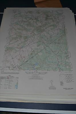 1940's Army (like USGS) topo map Roosevelt New Jersey 6164 III NW