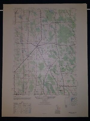 1940's Army topographic map Hannibal New York -Sheet 5670 I SE