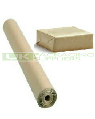 1 LARGE ROLL OF 88gsm PURE KRAFT BROWN WRAPPING PARCEL PAPER 750mm x 50 Metre