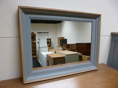 New Esquisse French Grey & Ash Wood Wall Mirror 84 x 66cms *Handmade in France*
