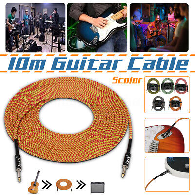 10 meter Electric Guitar Bass Amp Amplifier Connection Cable Lead Cord 5 Color