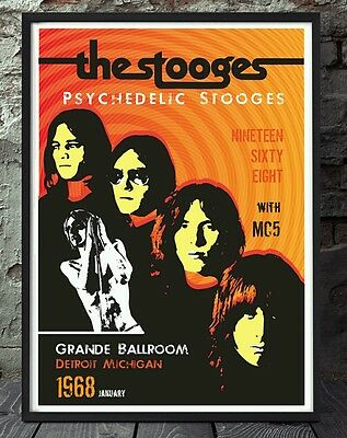 Iggy pop and the stooges print posters artwork. Specially created