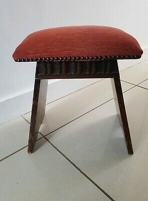 Antique Solid Oak Child Stool/Footstool