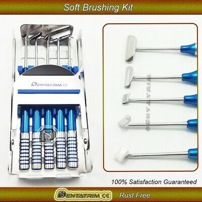 Dental Soft Brushing Kit 5 Pcs Implant Surgery Instrument With Free Cassette CE