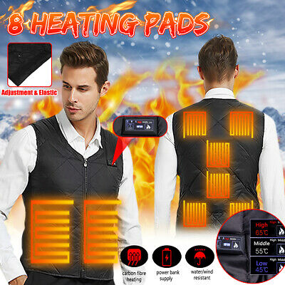 Men's Women USB Heated Vest Jacket Electric Battery Heating Winter Warmer Coat ✅