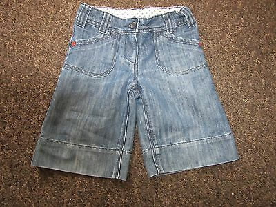 Girls Next Shorts Age 4 Years Blue Denim Longer Length Cropped Jeans Dressy
