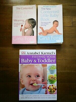 Book Selection Gina Ford Contented baby / weaning & Annabel Carmel toddler Meals