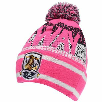 Official Galway Beanie Hat Ladies Bobble Knitwear