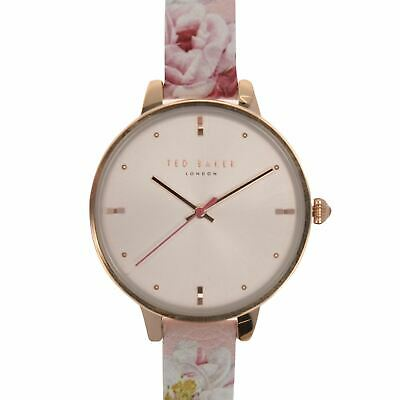 Ted Baker Floral Strap Watch Ladies Pattern Stamp Analogue Buckle Fastening