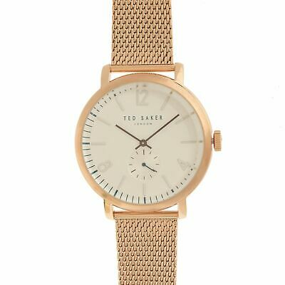 Ted Baker Large Dial Watch Unisex Water Resistant Round Face Stainless Steel