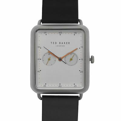 Ted Baker Isaacki Square Dial Watch Unisex Water Resistant Leather Strap Face