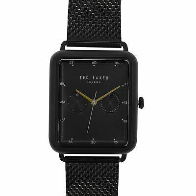Ted Baker Dial Watch Mens Gents Water Resistant Analogue Quartz Stainless Steel