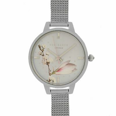 Ted Baker Mesh Watch Ladies Water Resistant Round Face Stainless Steel