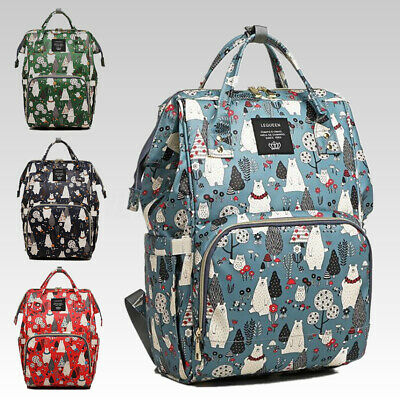 LEQUEEN Large Mummy Maternity Nappy Diaper Bag Baby Travel Backpack Tote