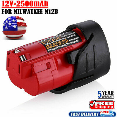 NEW FOR Milwaukee Red 48-11-2420 M12 C12B Lithium-ion 2.5AH Compact Battery Pack