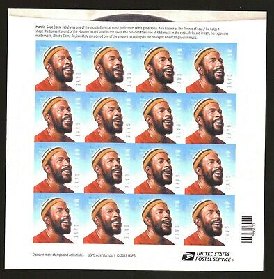 """US - Sheet of 16  - New """"2019"""" - Marvin Gaye Forever stamps - MNH"""
