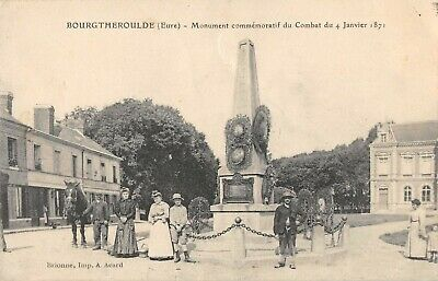 Cpa 27 Bourgtheroulde Monument Anime
