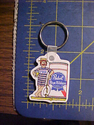 Vintage Unused Pabst Blue Ribbon Swimmer Key Ring! Pbr Keychain  Chain  Rare
