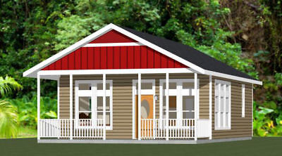 30X20 HOUSE -- 1 Bedroom 1 Bath -- 600 sq ft -- PDF Floor Plan ... on