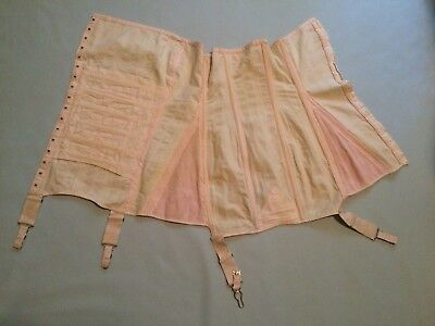 VINTAGE  Girdle CORSET SMALL pink elastic 1950's 1960's Retro PIN-Up
