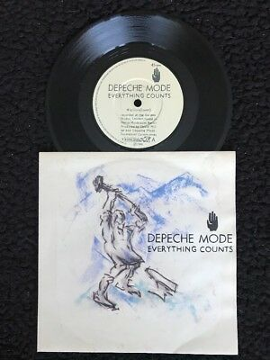 """Depeche Mode - Everything Counts  7"""" Vinyl Pic Sleeve Mute 7 BONG 3 (1983) MN/Ex"""