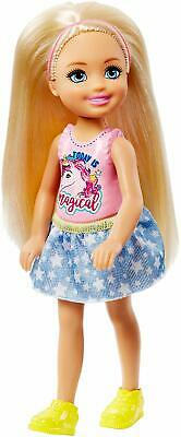 Barbie Club Chelsea Blonde Hair Doll With Unicorn Top FRL80 **BRAND NEW**
