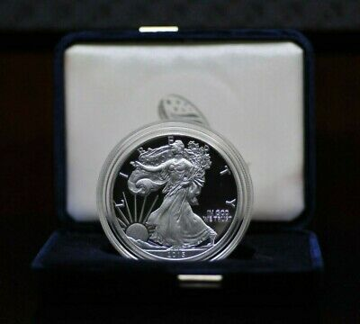 2015-W US Mint American Eagle 1oz Silver Proof Coin with Case & COA [049DUD]