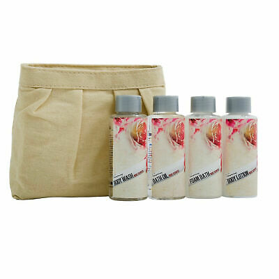 Country Garden Bath Kit 100ml Body Lotion & Shower Gel & Oil & Foam & Wash Bag