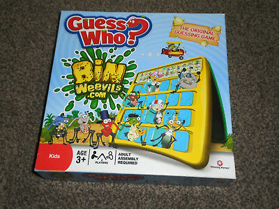 GUESS WHO ? GAME : BIN WEEVILS EDITION - By HASBRO IN VGC (FREE UK P&P)