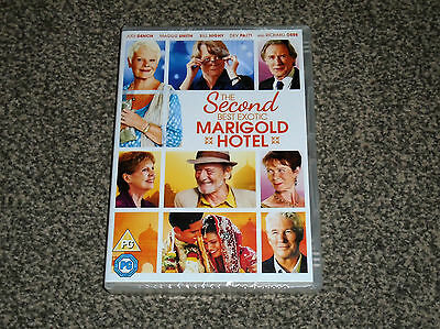 The Second Best Exotic Marigold Hotel : 2015 Sequel Dvd New Sealed (Free Uk P&P)
