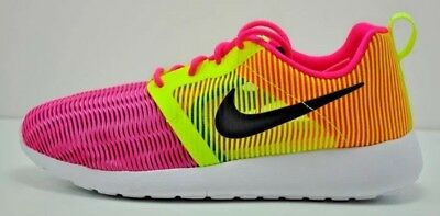 8dced6a77aea7 Nike Roshe Light Weight GS Running Shoes Size 6Y Pink Volt White 705486 603