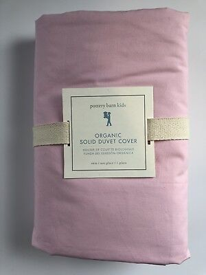 Pottery Barn Kids Solid Duvet Cover Pink Organic Twin New