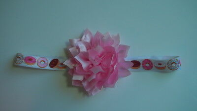 Baby Headbands Pink Lotus Qty 1 Donuts Headband Photo Prop Bow Girly New