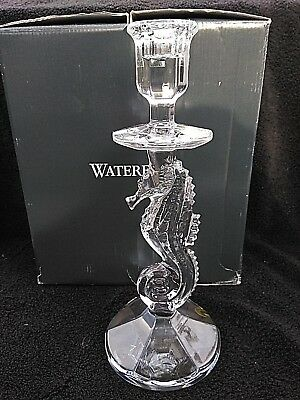 "Waterford Crystal Seahorse NEW 11 1/2"" Candlesticks"