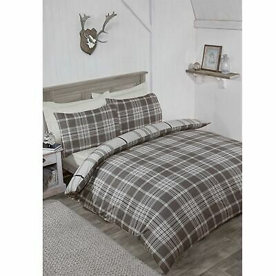 Linens and Lace Check Flannel Duvet Set Unisex Cover Cotton Pattern Checked