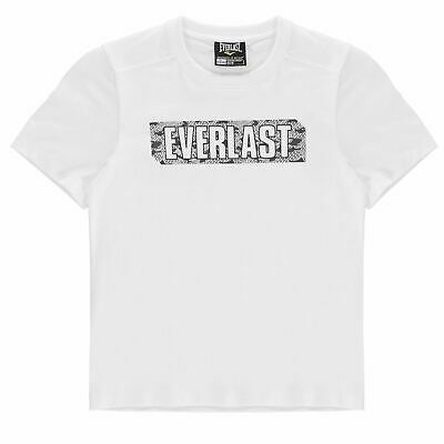 Everlast Graphic T Shirt Youngster Boys Crew Neck Tee Top Short Sleeve Cotton
