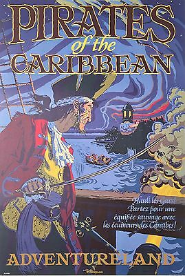 """Disney Parks Attraction Poster 12""""x18"""" Unframed - Pirates Of The Caribbean Paris"""