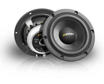 "Eton Rsr80 8 cm 4 "" High End Hifi Mid-Range Car Speakers Loud Speaker Midrange"