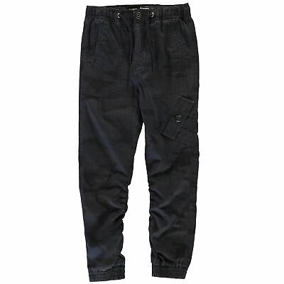 No Fear Boys Navy Army Stamp Trousers Youngster Chino Pants Bottoms Chinos Zip
