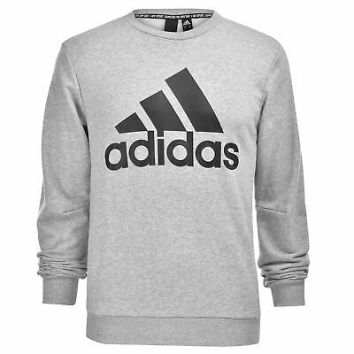 adidas BOS Crew Sweatshirt Mens Gents Pullover T Shirt Tee Top Jumper Full