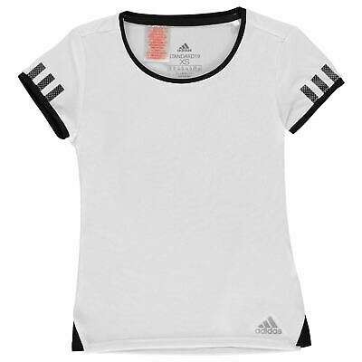 adidas Club T Shirt Youngster Girls Short Sleeve Performance Tee Top Crew Neck