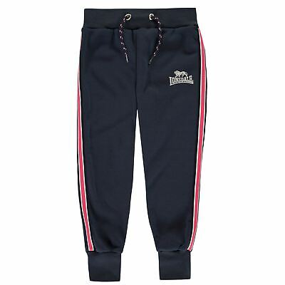 Lonsdale Tape Sweatpants Youngster Girls Fleece Jogging Bottoms Trousers Pants