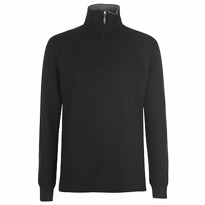 Gelert French Rib Pullover Mens Gents Crew Jumper Full Length Sleeve High Neck