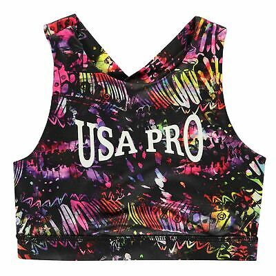 USA Pro Long Crop Girls Athletic Bra Underclothes