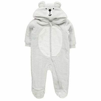Crafted Mini Bear Sleepsuit Baby Childrens Bodysuit Hooded